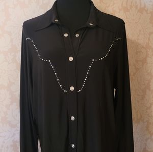 Western Ethics Retro Western Style Button Down